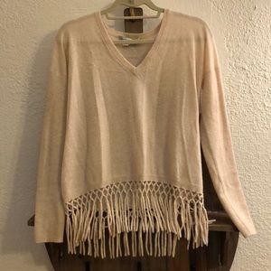 Autumn Cashmere Fringe Sweater Size Small